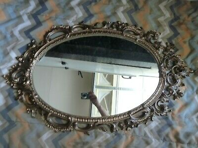 Lg Gold Oval Baroque Style Ornate Mirror - Made In The Usa  Syroco