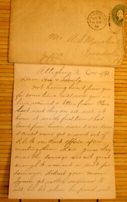 12-5-1898 3-Pp LETTER FROM FAMILY/ALLEGHENY TO A. S. MARSHALL IRONDALE OHIO