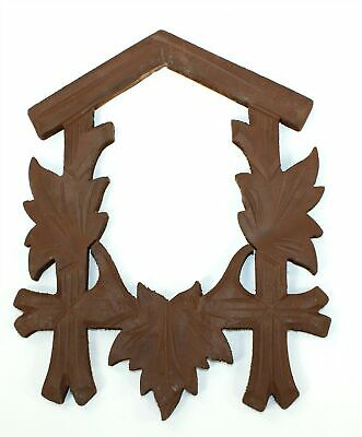 """Cuckoo Clock Case Front Frame - 8-1/4"""" Tall - Vintage Clock Parts! Gg107"""