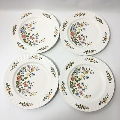 Aynsley Cottage Garden Dinner Plates Set of 4 Fine English Bone China