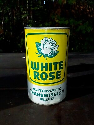 Nice 1950s White Rose Transmission Fluid Type A Imperial Quart Motor Oil can