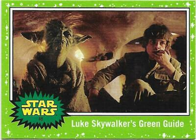 2019 Topps Star Wars Journey to The  Rise of Skywalker Green Starfield #48