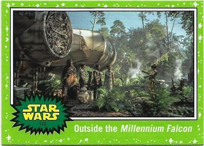 2019 Topps Star Wars Journey to The  Rise of Skywalker Green Starfield #110