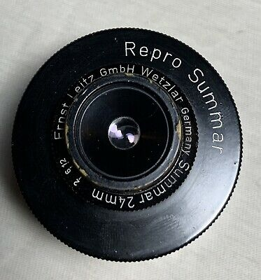 Repro Summar Ernst Leitz GmbH Wetzlar 24mm Lens w/ Extension & Case