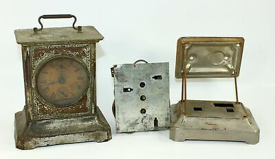 Carriage Clock Movements And Case! Probably German - Antique Clock Parts - Gg186