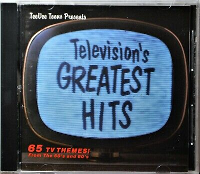 CD Television's Greatest Hits TV Themes Soundtrack TeeVee  Extra Discs Ship Free