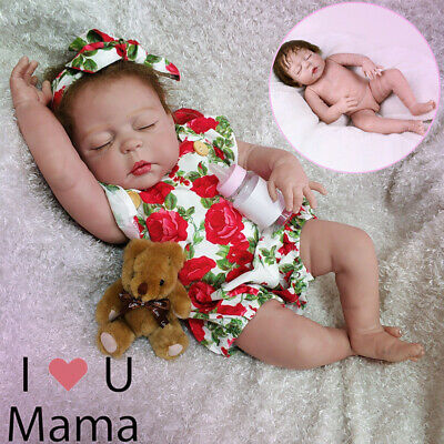 "22"" Lifelike Reborn Baby Girl Doll Full Body Vinyl Silicone Newborn Toy Gift AU"