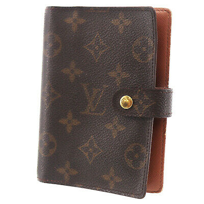 LOUIS VUITTON Agenda PM Day Planner Cover Monogram R20005 Vintage Auth #FF178 I