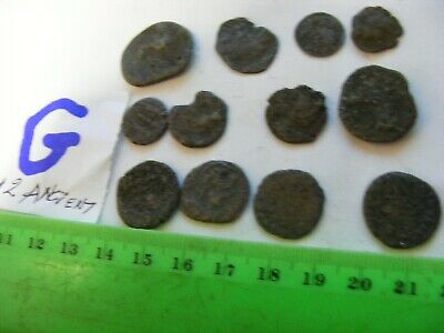Lot of 12  worn mixed conditions Ancient  mostly Roman Coins(G).
