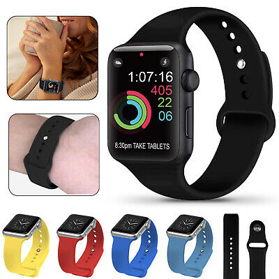 Sports Watch Band Soft Silicone Strap for Apple iWatch Series 5 4 3 2 1 38-44mm