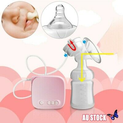 Electric Hand Free Double Breast Pump Automatic Intelligent Baby Feeder USB AU