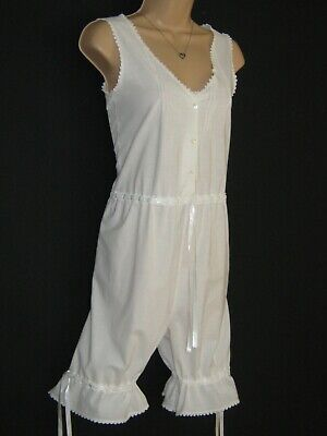 Laura Ashley Vintage Victorian Style Bloomers Camisole Combination One-Piece,S