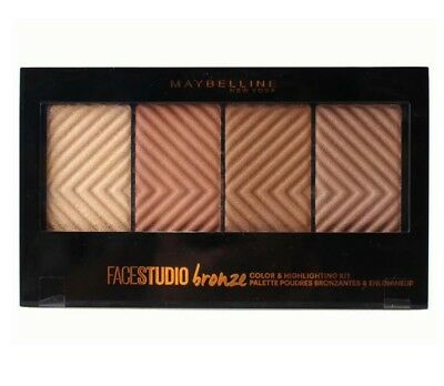 MAYBELLINE 14g COLOUR & HIGHLIGHTING PALETTE FACESTUDIO BRONZE - NEW