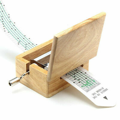 DIY Hand-cranked Music Box with Hole Puncher + Paper Tapes Great Hot Gift