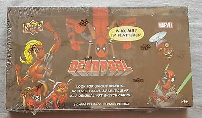 Deadpool Hobby Box Upper Deck Trading cards 2018 2 Inserts!!