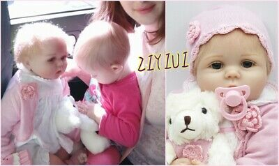 """22""""Reborn Dolls Soft Silicone Realistic Handmade Xmas Gifts Real Life Cute Girl"""