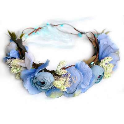 Boho Flower Crown Headband Floral Hair Garland Wreath Headpiece Bridal Shower