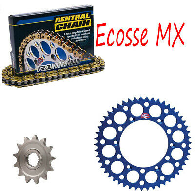 Yamaha YZ250 Renthal Gold Heavy Duty Chain And Sprocket Kit BLUE