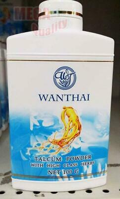WANTHAI TALCUM POWDER WITH HIGH CLASS HERBS Natural Extract - Natural Scent 100g