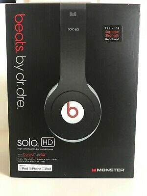 Beats by Dr. Dre Solo HD Headband Headphones - Black USED Sold As is