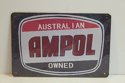 AMS11 AMPOL Metal Sign New 30 cm W X 20 cm H