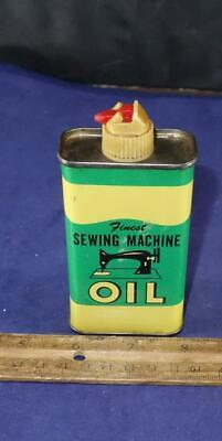 Vintage Finest Sewing Machine Oil Tin Oiler Can 4 oz !!