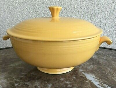 Vintage Homer Laughlin Yellow Fiesta Covered Casserole