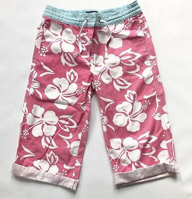 Girls Boden Shorts Age 9-10 Years Pink  Cotton Surf Shorts Beach Summer Holiday