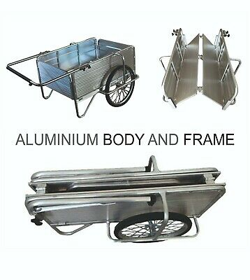 Dura-Cart Folding Aluminium Paddock Race Rally Motor Camping Events Cart Trolley