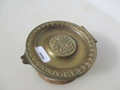 Victorian French Brass Air Vent Grate Grille Ventilation Old Antique Cap  3.75""