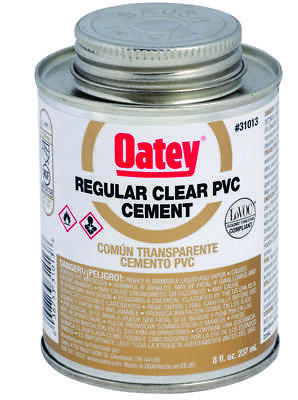 Oatey 31014 Regular Bodied Solvent Cement, 16 oz, Can, Clear, Liquid