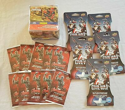 Marvel SET Captain America: Civil War Avengers Trading cards & Spiderman Sticker