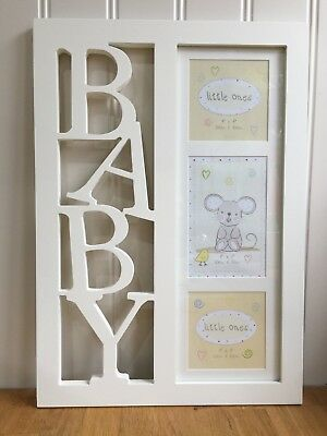 Little Ones 'Baby' Triple Picture Photo Frame - BNIB