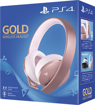 Cuffie Rose Gold Edition Wireless Sony Playstation 4 2.0 Gioco Headset Ps4 Nuova