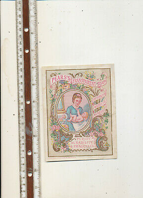 D984  Large Victorian Trade Card Pears Transparent Soap