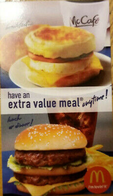 5x - McDonald's Free Extra Value Meal Combo - Great Savings SHINEY GOLD ARCH