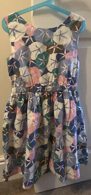 John Lewis Girls Dress Age 10 Party Prom Casual Cotton Flowers