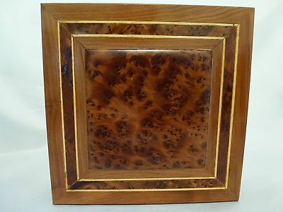 Vintage Thuya Wood Burl Wood Trick Switch Box from Morocco 7 X 7 Square