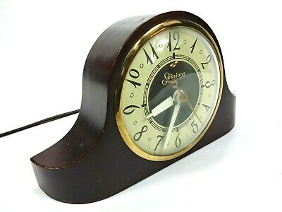 Vintage 1930s Sessions Art Deco Electric Mantle Clock Model 3W Working A2809