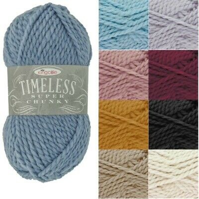 King Cole 100g Timeless Super Chunky Yarn Knitting Acrylic Alpaca Blend Wool