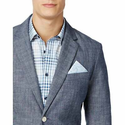 Tasso Elba Mens Chambray Blazer Sports Coat