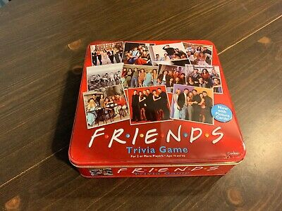 Friends TV Show Trivia Game Cardinal 2003 In Red Collectible Tin Near Complete