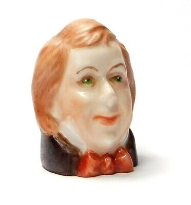 Handpainted Character Head Thimble Tadpoles  Dickens Collection