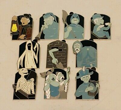 Disney Mystery Pins Haunted Mansion 50th Anniversary Complete Set Of 10