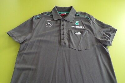 Mercedes Amg Petronas F1 Team Issue Polo Shirt Mens Medium Puma
