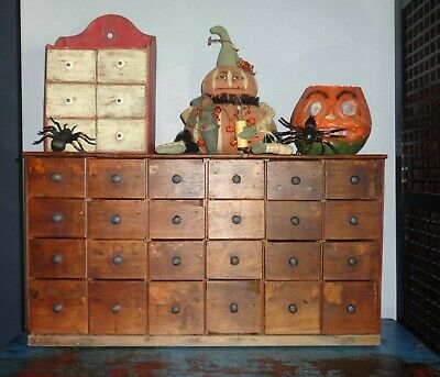 24 Drawer Antique Spice Cabinet/Box/Cupboard/Apothecary/Chest/AAFA