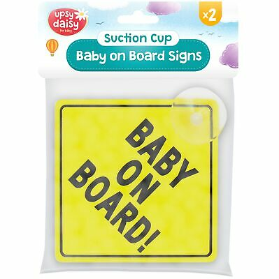 2pc Baby On Board Suction Cup Sign Car Child Safety Vehicle Window Windshield