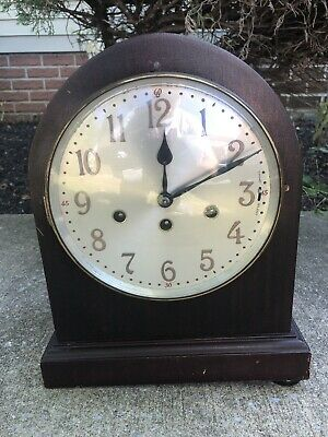 Antique Junghans Beehive Westminster 8 Chime Mantel Shelf Clock Rare With Key