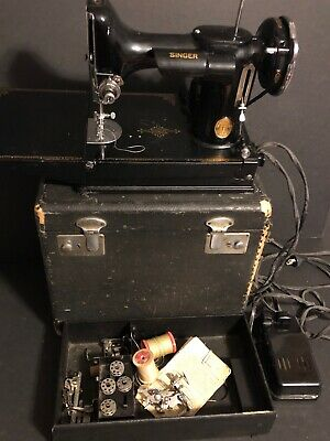 Vintage Singer Featherweight Catalog 3-110 Portable Sewing Machine Foot Pedal