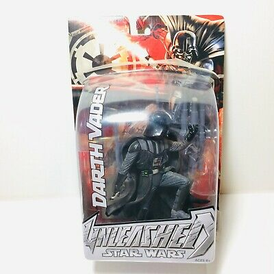 DARTH VADER UNLEASHED Star Wars Figure 2004 Hasbro Open Package